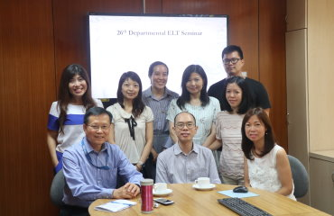 26th English Departmental Seminar, by Dr Holly Chung, Ms Joyce Lee and Dr Rebecca Ong