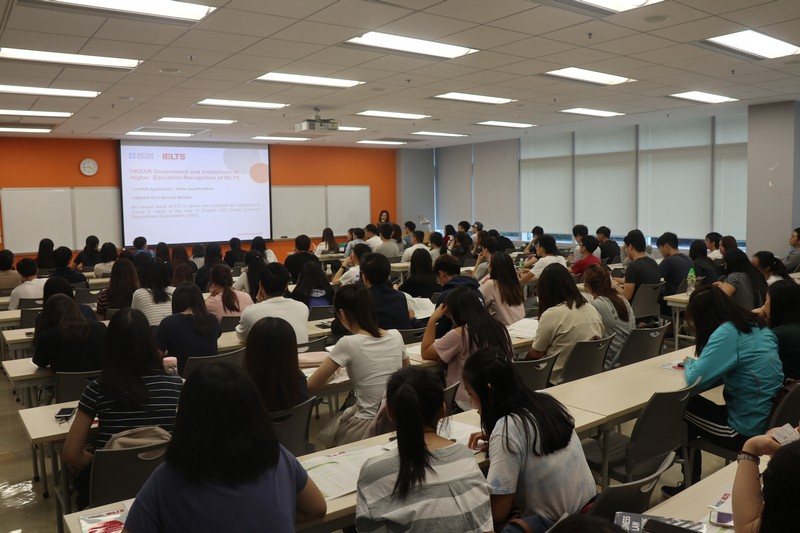 The IELTS Talk was well-received by the students.