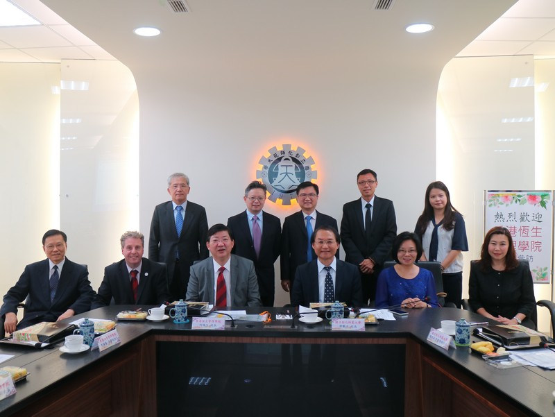 The HSMC delegation together with NCUE President Yen-Kuang Kuo and the management team
