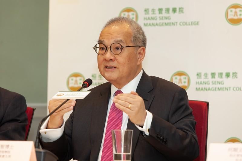 恒生管理學院校務委員會主席鄭慕智博士致辭