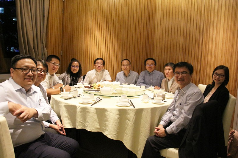 Dinner after the first day of the conference