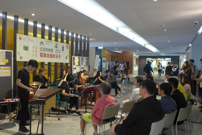 The audience immersed themselves in Hong Kong's past and present.