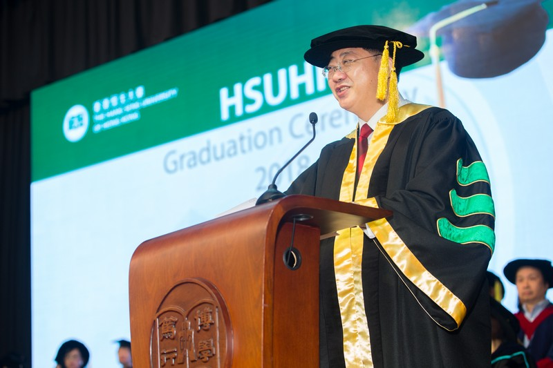 President Simon Ho expressed his warmest congratulations to all graduates.