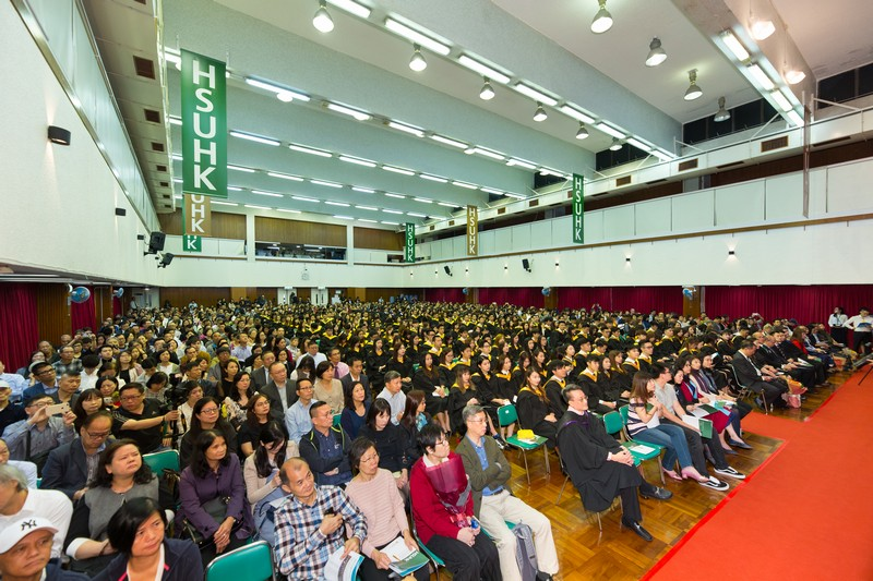 A full house of graduates, their family members and honorable guests