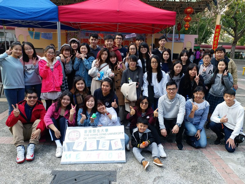 HSUHK students extended their project to the community.