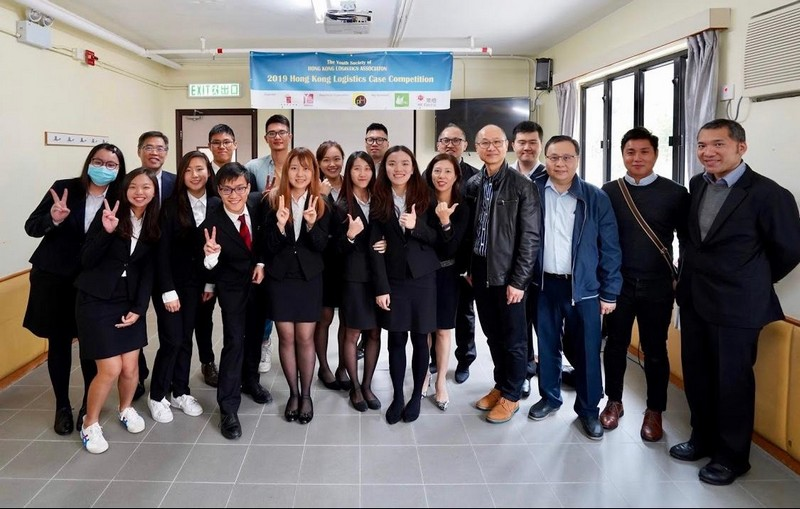 The participating teams pictured with representatives from the organiser in the Hong Kong Logistics Case Competition 2019.
