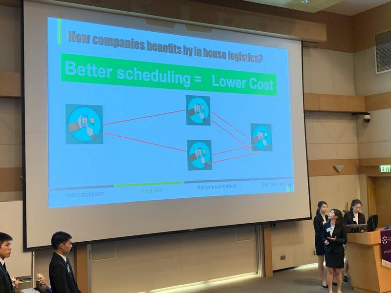 恒大供應鏈管理及資訊學系同學在個案研究分析中表現出色,並展現團隊精神。