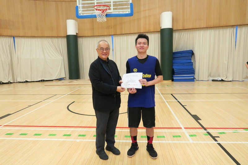 Choi Ming Hin, affiliated member and former resident of Mosaic College, was awarded The Top Shooter in the Inter-RC Basketball Competition for the third consecutive year.