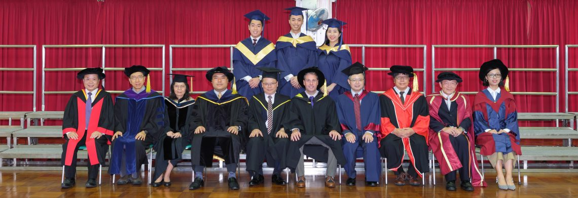 Graduating students of Master of Science in Entrepreneurial Management and their teachers