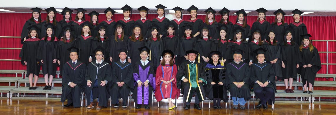 Graduating students of Bachelor of Translation with Business (Honours) and their teachers