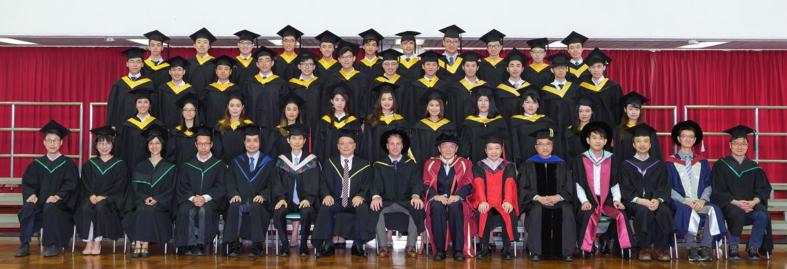 Graduating students of Bachelor of Business Administration (Honours) in Financial Analysis and their teachers