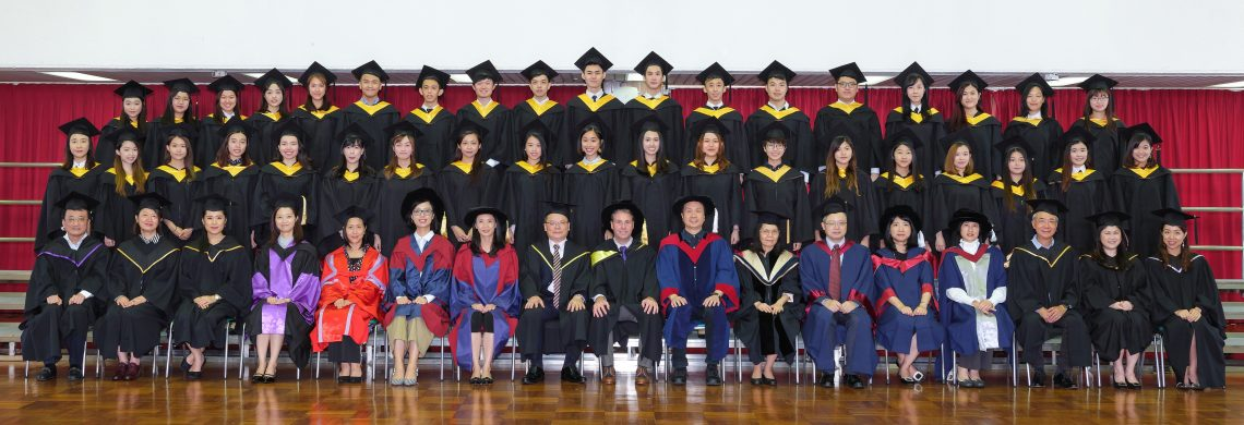 Graduating students of Bachelor of Business Administration (Honours) in Management and their teachers