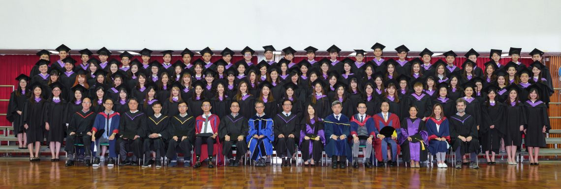 Graduating students of Bachelor of Business Administration (Honours) in Supply Chain Management and their teachers