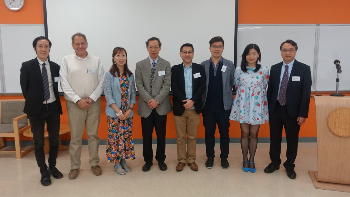 Group photo of speakers with Vice-President Y V Hui (Academic & Research) (4th from left) and Dr Ben Cheng (1st from right)