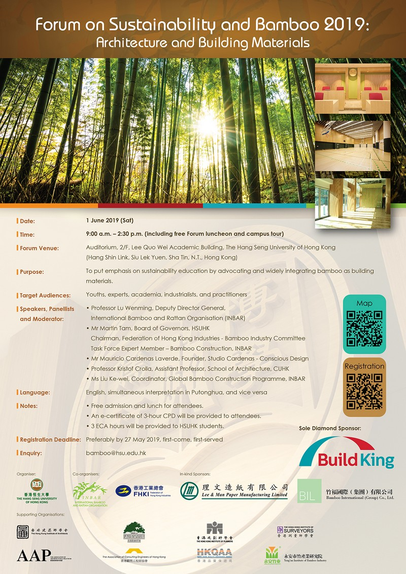 Forum on Sustainability and Bamboo 2019: Architecture and Building Materials