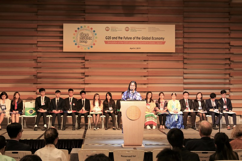 Presentation of Joint Communique by the Prime Minister of Japan (Karli Lo, student of BSS-AS)