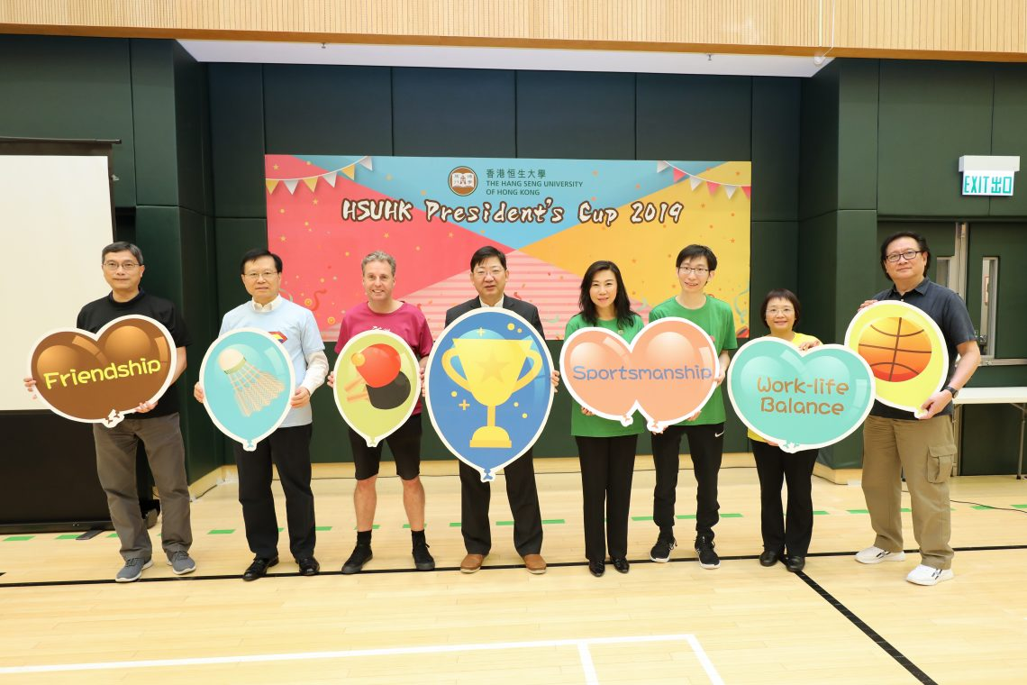 President Simon Ho and six team leaders officiated at the President's Cup Opening Ceremony