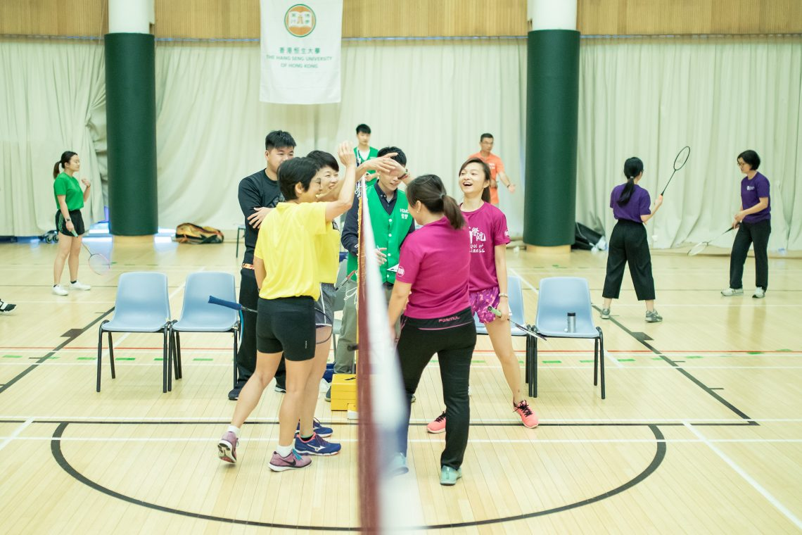 Teams shared joy and displayed high team spirits at the tournament