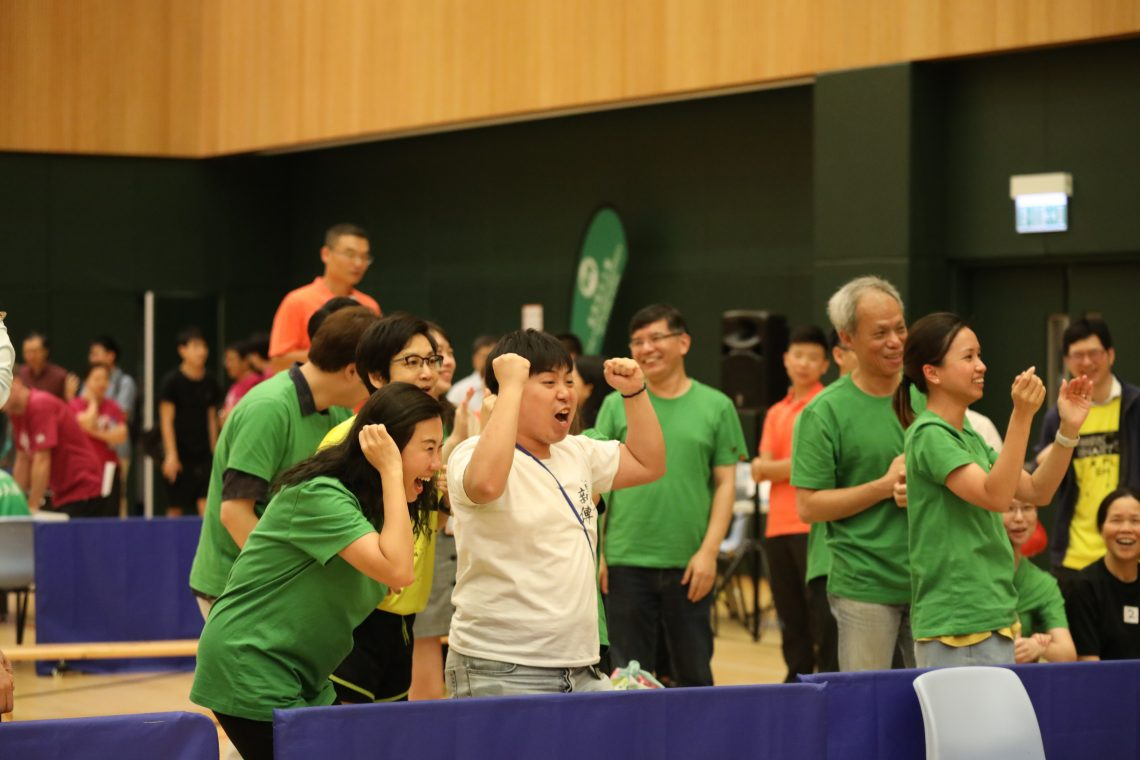 The sports hall was filled with bubbles of laughter and joy