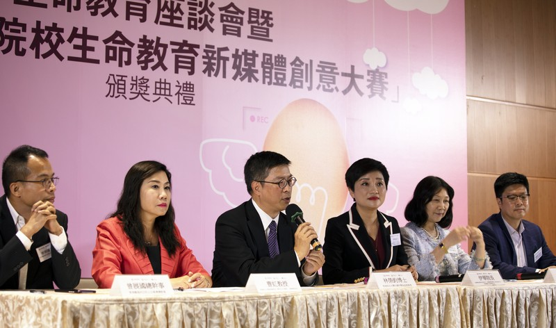 Speakers of the Forum (from left): Mr Tsang Chin Kwok, Professor Scarlet Tso, Dr Anselm Lam, Ms Yi Hua, Ms Alice Leung and Mr Raymond Chiu