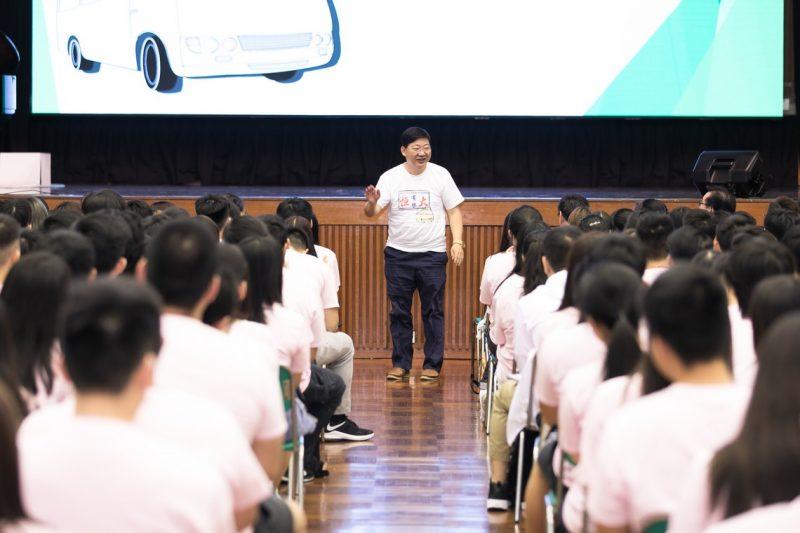 President Simon S M Ho welcomed the freshmen