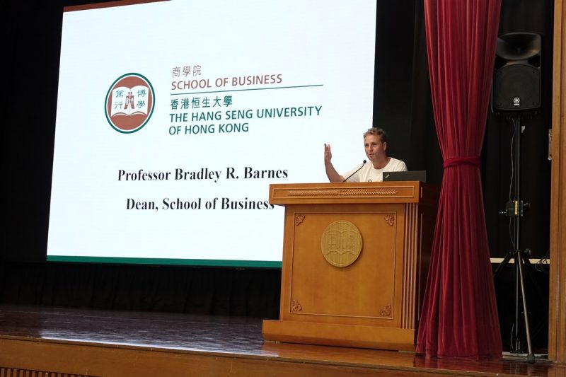 Professor Bradley Barnes, Dean of the School of Business, delivered an insightful overview on the structure of the Business School.