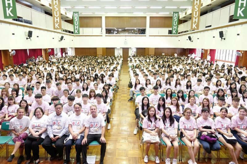 Group photo of academic staff and freshmen of the School of Business