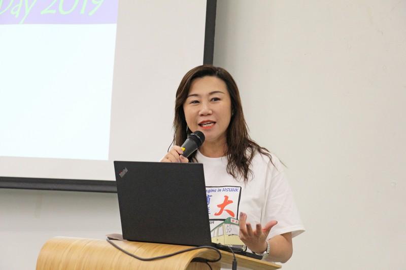 Professor Scarlet Tso, Dean of School of Communication, gave a welcoming speech.