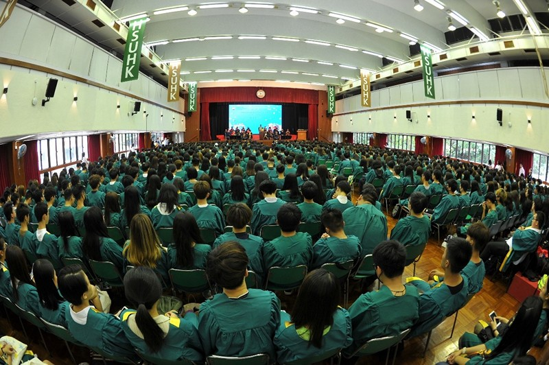 A full house of new students at the Convocation