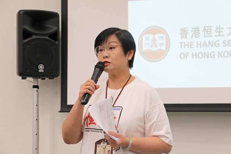 Ms Glacial Cheng, Senior Lecturer, was the MC of the event.