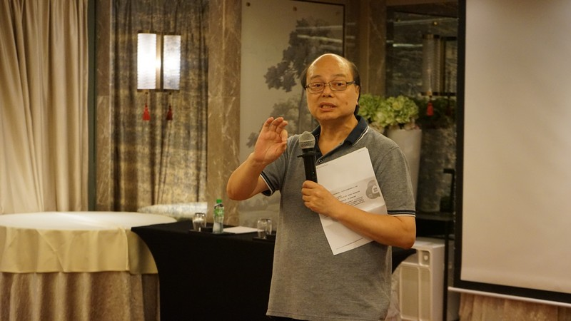 Professor Trevor Siu, Programme Director of the BA-CMCT Programme, introduced the development of the Programme.
