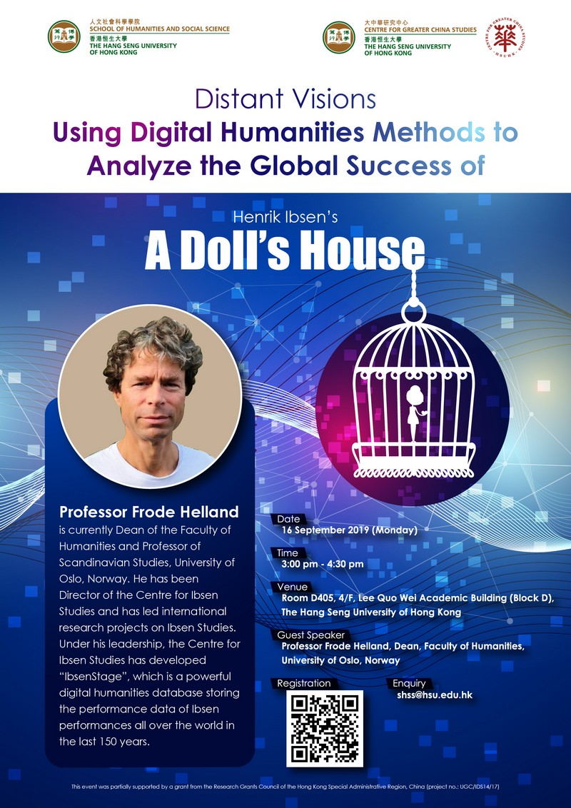 """Seminar on """"Distant Visions Using Digital Humanities Methods to Analyze the Global Success of Henrik Ibsen's A Doll's House"""""""