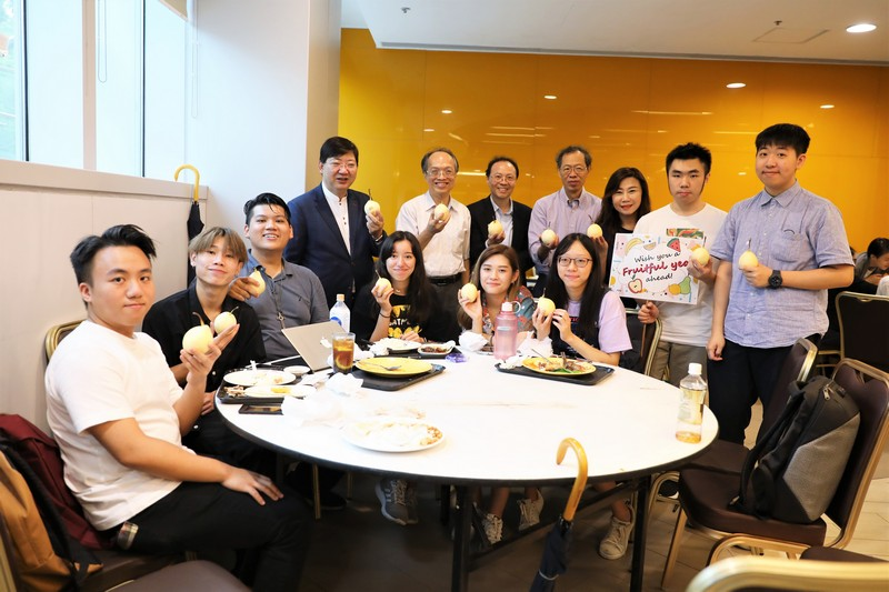 HSUHK senior management wished students a fruitful academic year