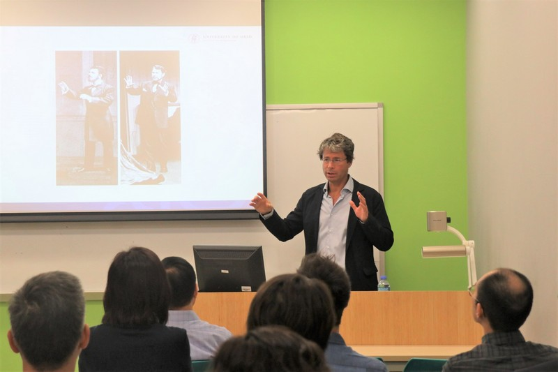 Professor Frode Helland demonstrated how the digital humanities database served as the tool for studying global performances of Henrik Ibsen's plays.