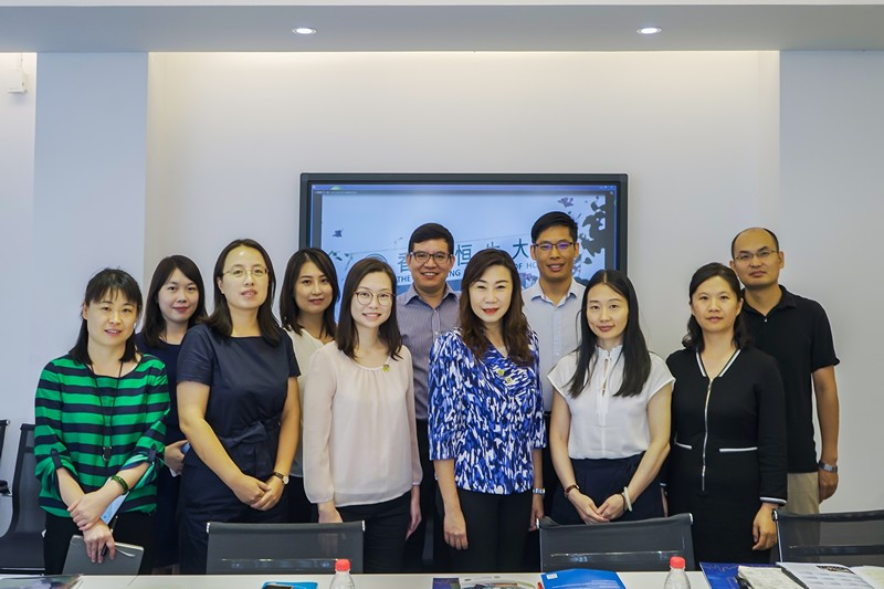 Delegation of the School of Communication of The Hang Seng University of Hong Kong Visited the School of Advertising of Communication University of Ching
