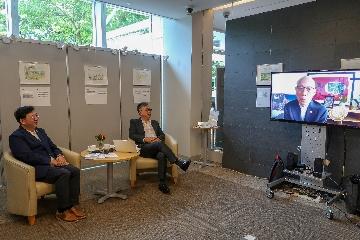 「慶祝香港恒生大學成立藝術設計系 許焯權教授水彩畫速寫展覽第二部」網上開幕禮