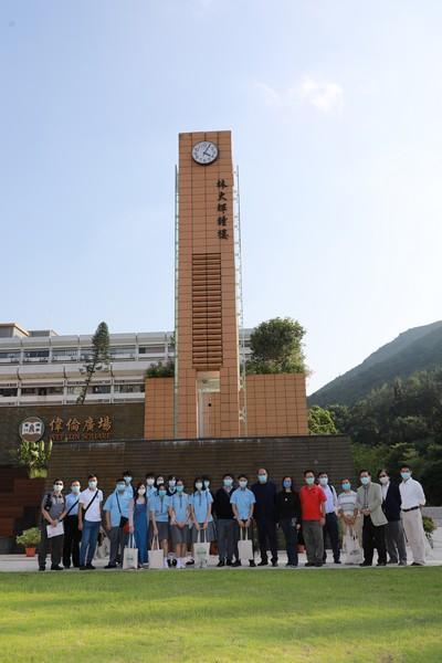 Group photo at Lam Tai Fai Clock Tower