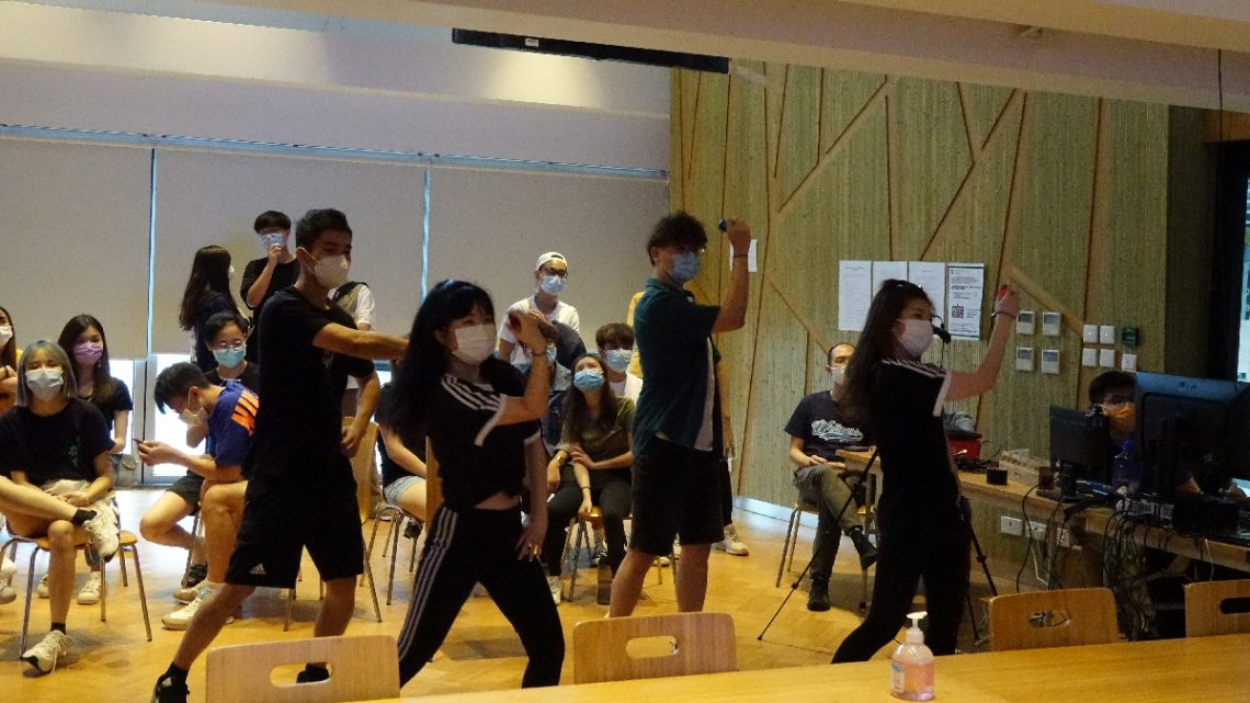 Participants demonstrate their dancing talent in the competition.