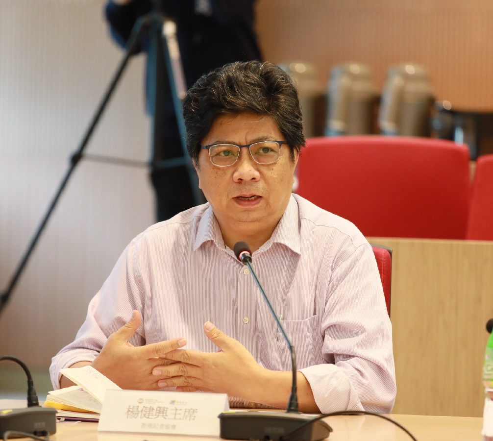 Mr Chris Yeung, Chairman of Hong Kong Journalists Association, points out that students have to acquire core knowledge of the journalism profession.