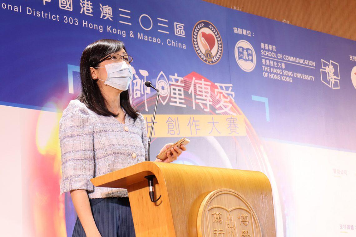 袁淑賢醫生表示,港人的近視率冠絕全球,小一至小三學生的近視率達44%,成年人近視率高達七成以上,預防及控制近視是刻不容緩。