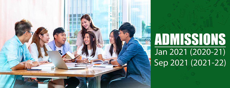 Admission Banner for 2020 Semester 2 & 2021