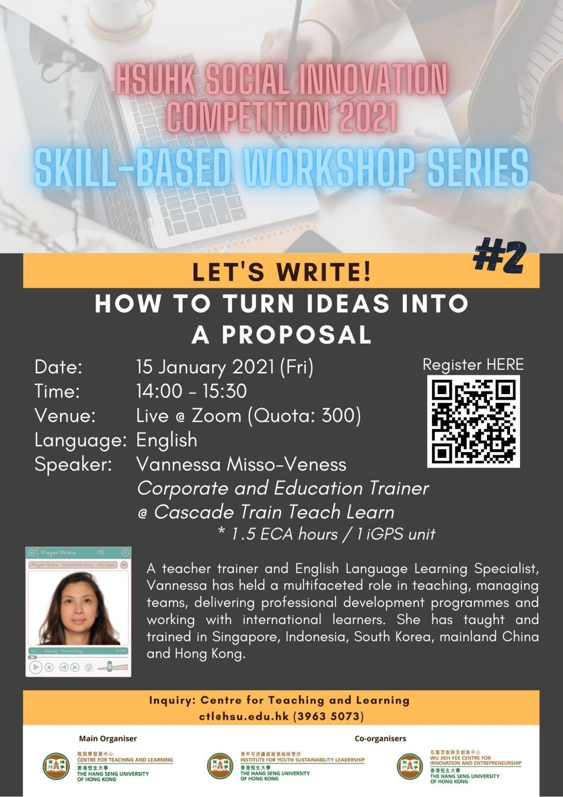 Skill-based Workshop Series #2: Let's Write!: How to Turn Ideas into a Proposal