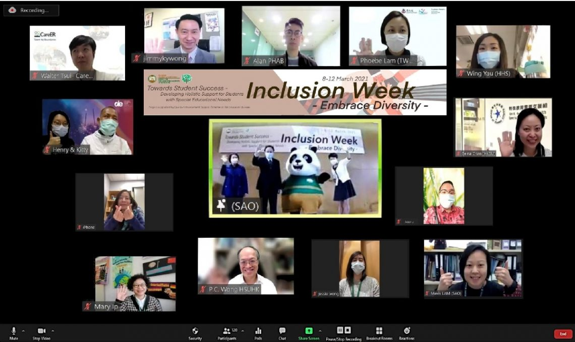 The first online Kick-off Ceremony of Inclusion Week connects HSUHK students, staff and external collaborators via ZOOM.