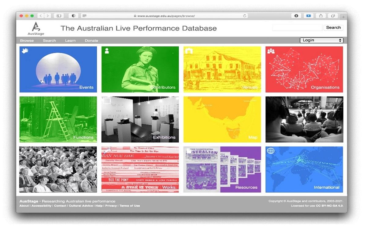 AusStage website: https://www.ausstage.edu.au/pages/browse/