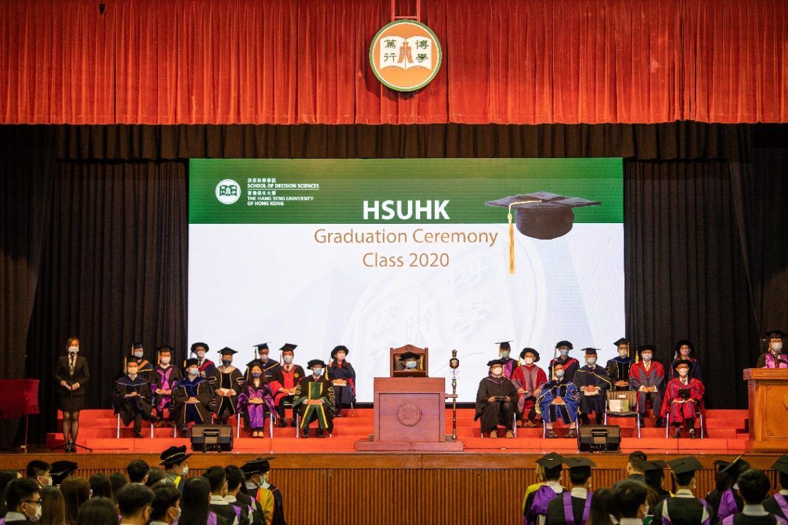 The School of Decision Sciences celebrates the memorable moment with graduates.