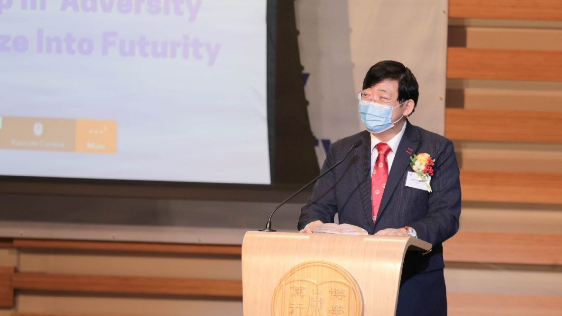 President Simon Ho encourages Student Ambassadors to pass on the serving spirit.